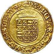 Demi Real d'or - Charles V – revers