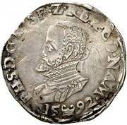 Écu - Philippe II – avers