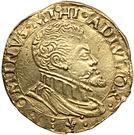 ½ Real d'or - Philip II (Atelier de Bruges) – avers