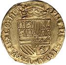 ½ Real d'or - Philip II (Atelier de Bruges) – revers