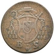 2 pfennig Franz Christoph von Hutten – avers