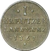 1 kreuzer Franz Christoph – revers