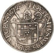 60 Kreuzer - Lothar Friedrich von Metternich – revers