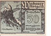 50 Heller (Wachau - Aggstein) -  avers