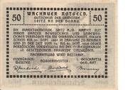 50 Heller (Wachau - Aggstein) -  revers