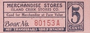 Island Creek Stores Company 6 Cents – avers