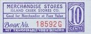 Island Creek Stores Company 10 Cents – avers