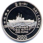1 roupie (marine Sri-Lankaise) – avers
