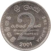 2 roupies (Colombo) – revers
