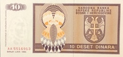 10 Dinara -  revers