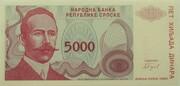 5000 Dinara (Republika Srpska) -  avers