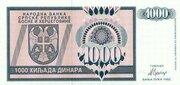 1000 Dinara -  avers