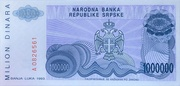 1,000,000 Dinara – revers