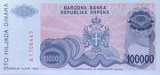 100,000 Dinara – revers