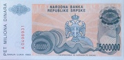 5,000,000 Dinara – revers