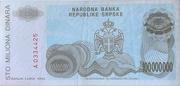 100,000,000 Dinara (Republika Srpska) – revers