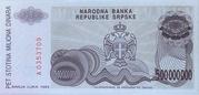 500,000,000 Dinara (Republika Srpska) – revers