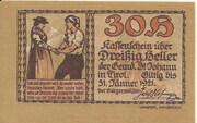 30 Heller (St. Johann in Tirol) -  avers