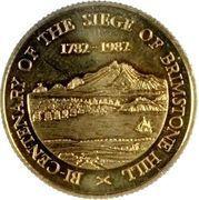 100 Dollars - Elizabeth II (Bicentenaire du Siège de Brimstone Hill) – revers