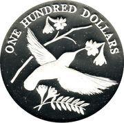 100 Dollars - Elizabeth II (Tropical birds) – revers