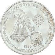 20 dollars - Elizabeth II (Indépendance) – revers