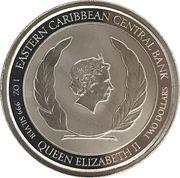 2 dollars - Elizabeth II (Siège de Brimstone Hill) – avers
