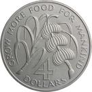 4 dollars (FAO) – revers