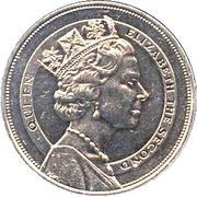 10 dollars (Visite royale) – revers