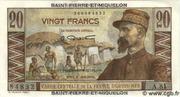 20 francs Emile Gentil (type 1946) – avers