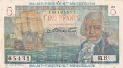 5 francs Bougainville (type 1946) – avers
