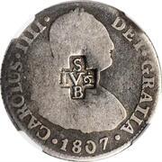4 ½ Bits (Counterstamp on Peru 2 Reales KM# 95) – avers