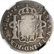4 ½ Bits (Counterstamp on Peru 2 Reales KM# 95) – revers