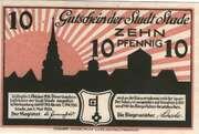 10 Pfennig (Stadt Stade) – avers