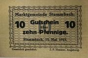 10 Pfennig (Stammbach) – avers