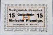 15 Pfennig Stammbach – avers