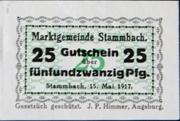25 Pfennig Stammbach – avers
