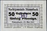 50 Pfennig Stammbach – avers