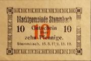 10 Pfennig Stammbach – avers
