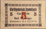 5 Pfennig Stammbach – avers