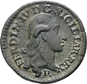 1 Quattrino - Ferdinand IV – avers