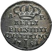 1 Quattrino - Ferdinand IV – revers