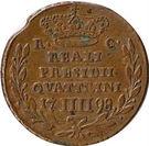 4 Quattrini - Ferdinand IV – revers