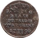 2 Quattrini - Ferdinand IV – revers