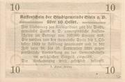 10 Heller (Stein an der Donau) -  revers