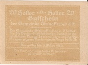 20 Heller (Steinakirchen) -  revers