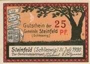 25 Pfennig (Steinfeld) [Schleswig] – avers