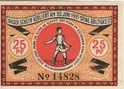 25 Pfennig (Steinfeld) [Schleswig] – revers