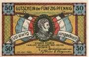 50 Pfennig (Schleswig) – avers