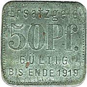 50 pfennig - Stettin – revers
