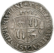 ½ thaler Wolfgang, Ludwig, Heinrich, Albrecht Georg and Christoph – revers